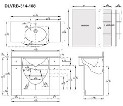 52 Bathroom Vanity Cabinet by Dreamline Dlvrb 314 108 Eurodesign 42