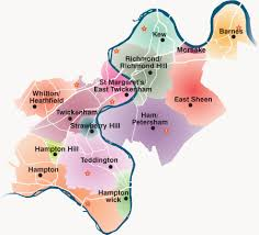 map uk villages plans borough of richmond upon thames
