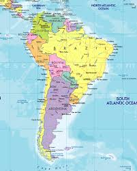 Map Of Countries In South America by Of South America