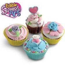 buy edible sweet art cupcake decorations baking