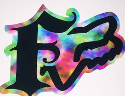 fox motocross logo fox racing rainbow f w head 8