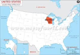 wisconsin map usa where is wisconsin location of wisconsin