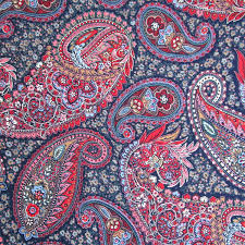 Paisley Home Decor Fabric by Reserved For Helje Vintage 1990s Paisley Fabric Joan Kessler Dark