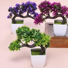 hyson shop artificial bonsai pot planters pine plants mini bonsai