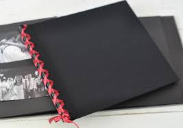 guest book with black pages ribbon laced album with black pages by blue sky papers