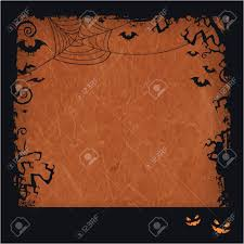 dark halloween background distressed orange brown background with dark halloween themed