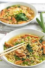 healthy turkey ramen bowls with spinach