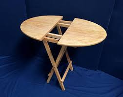 Folding Table With Handle Folding Table Etsy