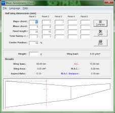 aerodynamic chord download mean aerodynamic chord 2 8 0