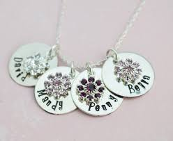 personalized mothers day necklace personalized necklace family personalized flower birthstone