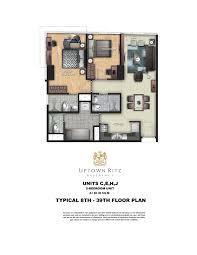 uptown ritz u2013 floor plans megaworld at the fort