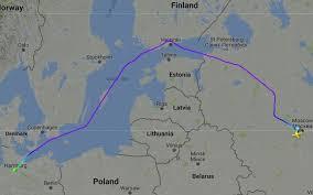 Putin S Plane by Putin Avoids Polish Baltic Airspace On The Way To Hamburg News