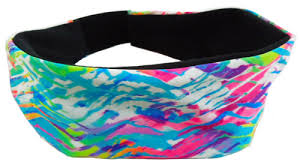 fabric headbands multi color neon chevron tracks spandex fabric elastic