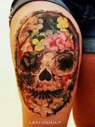 flower sugar skull flowers