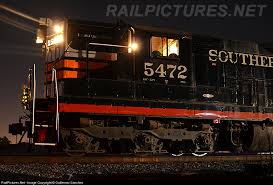 sunol train of lights southern pacific cadillac unit waits for the crew for the trip to