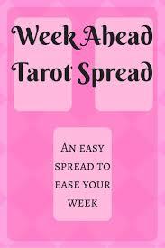 week ahead tarot spread tarot reading help tarot cards how to