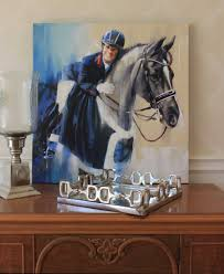 painting of charlotte dujardin and valegro horse paintings