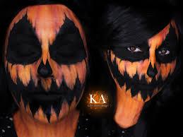pumpkin halloween makeup w tutorial by katiealves on deviantart