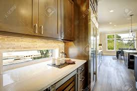 white cabinets brown lower cabinets in kitchen luxury kitchen features brown wood front cabinets and shaker