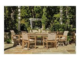 klaussner outdoor delray 7 piece outdoor dining set hudson s klaussner outdoor delray 7 piece outdoor dining set