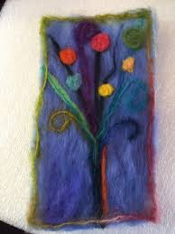 create greeting cards with fiber and needle felting at