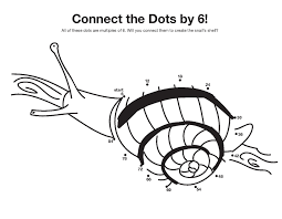 skip count by 6 connect the dots coloring pages funnycrafts