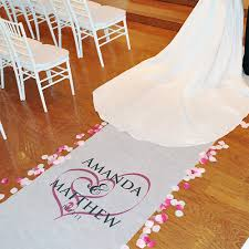 wedding runner hearts personalized wedding aisle runners aisle runners