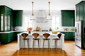 green kitchen cabinets with white island timeless kitchen trends that are here to stay better homes