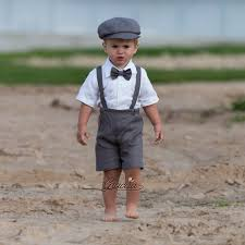 linen clothes for wedding ring bearer newsboy baby boy gray linen suit wedding