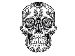 simple skull designs for beginners images hanslodge cliparts