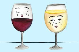champagne glass cartoon friendships are hard but are we bad friends