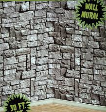 halloween photo backdrop 30ft stone dungeon medieval castle walls mural halloween photo