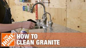 can you use to clean countertops how to clean granite the home depot
