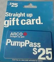 gas gift card free win 25 00 arco up gas pass with gin option