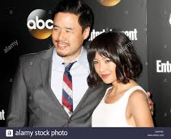 randall park randall park and constance wu celebrities arrive for the stock