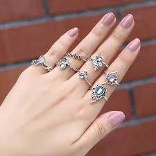 stone finger rings images Jexxi imitation gemstone three round stone ring women bridal 925 jpg