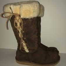 ugg shoes australia brown boots poshmark ugg shoes ugh australia 5163 brown side lace boots poshmark