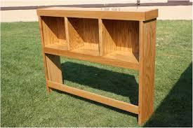 bookcase headboard twin solid wood teenage wooden bookshelf