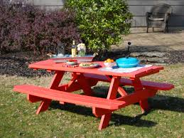 How To Make A Round Wooden Picnic Table by Picnic Table Revamp Sherwin Williams