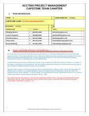 acct 600 week two team c proposal week 2 1 acct 600 financial