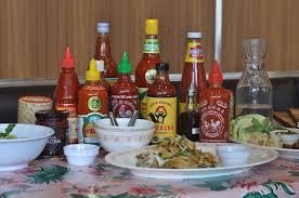 sriracha bottle back we took 10 bottles of sauce to pok pok thank you hillary