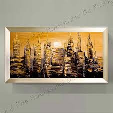 hand paint modern oil painting palette knife textured abstract landscape oil painting wall art canvas decoration