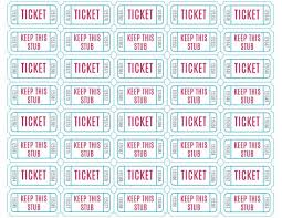raffle ticket templates word templates docs
