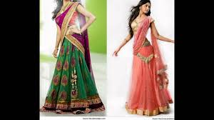 trendy half saree designs