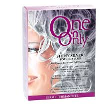 perm for grey hair one n only shiny silver perm