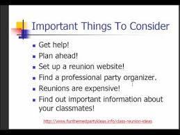 class reunions website class reunion ideas