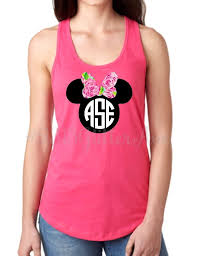 minnie mouse monogram lilly minnie mouse monogram racerback tank top 2313 glitter ave