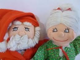 Santa Claus Dolls Handmade - vintage santa and mrs claus dolls handmade sewn rag dolls