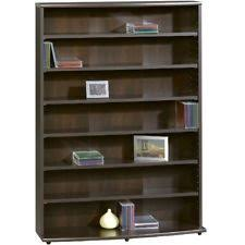 Oak Cd Storage Cabinet Dvd Vhs Cd Storage Shelf Multimedia Organizer Rack Wood Games