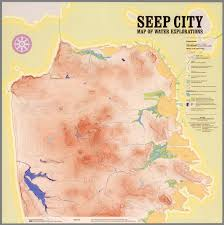 San Francisco Elevation Map Seep City Map Of Water Explorations San Francisco David